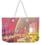 Docklands Double Rainbow Weekender Tote Bag