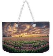 180 Degree View Of Sunrise Over Tulip Field Weekender Tote Bag
