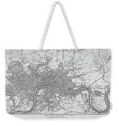 1800s London Map Black And White London England Weekender Tote Bag
