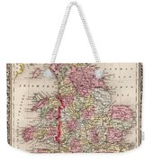 1800s Wales County Map Wales England Color Weekender Tote Bag