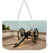 1841 Model Six Pounder Cannon At Fort Mackinac Weekender Tote Bag