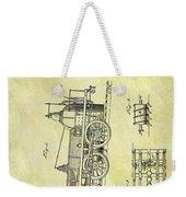 1845 Locomotive Patent Weekender Tote Bag