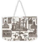 1850 Construction Of Steam Ship Weekender Tote Bag