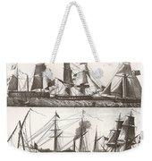 1850 European Sailing Ship Weekender Tote Bag
