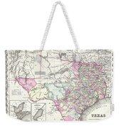 1855 Texas Map Weekender Tote Bag