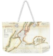1857 Coast Survey Map Of New York City And Harbor Weekender Tote Bag