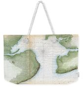1857  Coast Survey Map Of St. Louis Bay And Shieldsboro Harbor, Mississippi  Weekender Tote Bag