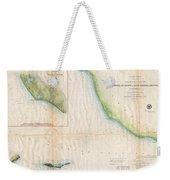 1857  Coast Survey Map Of The Eastern Entrance To Santa Barbara Channel Weekender Tote Bag
