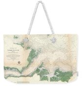 1857 U.s. Coast Survey Map Or Chart Of The Entrance To The York River, Virginia Weekender Tote Bag