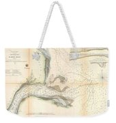 1857 U.s. Coast Survey Map Or Chart Of The Mouth Of St. Johns River, Florida Weekender Tote Bag