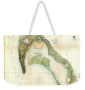 1857 U.s.c.s. Map Of San Diego Bay, California Weekender Tote Bag