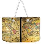 1858 Set Of Two Pelton Wall Maps, Western Hemisphere And Eastern Hemisphere  Weekender Tote Bag