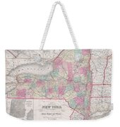 1858 Smith - Disturnell Pocket Map Of New York Weekender Tote Bag