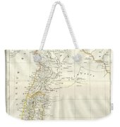 1859 Alabern Map Of Israel, Palestine, Or Holy Land And Syria In Ancient Times Weekender Tote Bag