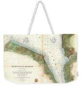 1859 U.s. Coast Survey Chart Or Map Of Hempstead Harbor, Long Island, New York  Weekender Tote Bag