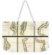 1865 Us Coast Survey Map Of The Mississippi River From Cairo Il To St Marys Mo  Weekender Tote Bag