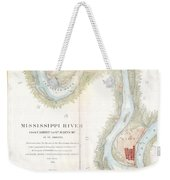 1865 Uscs Map Of The Mississippi River From Cairo Illinois To St Marys Missouri  Weekender Tote Bag