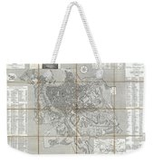 1866 Fornari Pocket Map Or Case Map Of Rome Italy Weekender Tote Bag