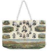 1866 Harpers Weekly View Of Salt Lake City Utah W Brigham Young Mormons Weekender Tote Bag