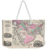 1866 Johnson Map Of Arabia Persia Turkey And Afghanistan Iraq Weekender Tote Bag