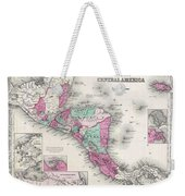 1866 Johnson Map Of Central America Weekender Tote Bag