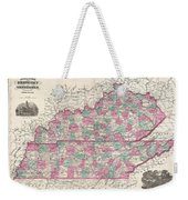 1866 Johnson Map Of Kentucky And Tennessee  Weekender Tote Bag