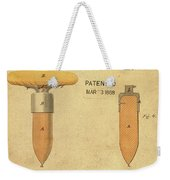 1868 Base For Baseball Players Patent In Sepia Weekender Tote Bag