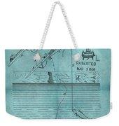 1868 Fishing Tackle Patent Blue Weekender Tote Bag