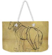 1868 Horse Harness Patent Weekender Tote Bag