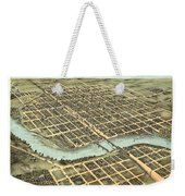 1869 Map Of Kankakee Weekender Tote Bag