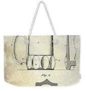 1873 Beer Mug Patent Weekender Tote Bag