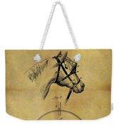 1874 Horse Blinder Patent Weekender Tote Bag