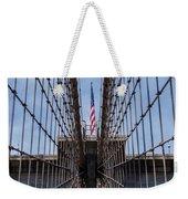 1875 Brooklyn Bridge Tower Color  Weekender Tote Bag