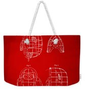 1878 Baseball Catchers Mask Patent - Red Weekender Tote Bag