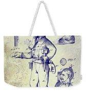 1880 Fireman Suite Patent Weekender Tote Bag