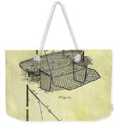 1882 Fishing Net Patent Weekender Tote Bag