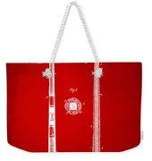 1885 Baseball Bat Patent Artwork - Red Weekender Tote Bag