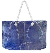 1886 Calipers Patent Blue Weekender Tote Bag