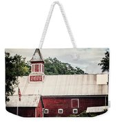 1886 Red Barn Weekender Tote Bag by Lisa Russo