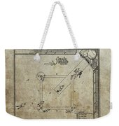 1887 Baseball Game Patent Weekender Tote Bag