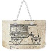 1889 Ambulance Patent Weekender Tote Bag