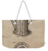 1889 Coffee Pot Patent Illustration Weekender Tote Bag
