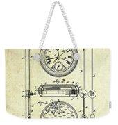 1889 Stop Watch Patent Art S. 1 Weekender Tote Bag