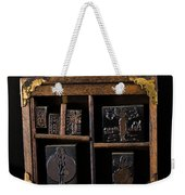 1890 Ink Stamps For Letters Weekender Tote Bag