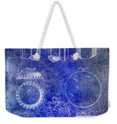 1892 Bottle Cap Patent Blue Weekender Tote Bag