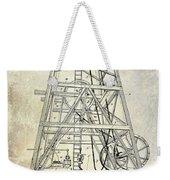 1893 Oil Well Rig Patent Weekender Tote Bag