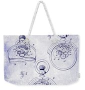 1893 Pocket Watch Patent Blueprint Weekender Tote Bag