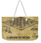 1896 Chess Set Patent Weekender Tote Bag