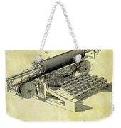 1896 Typewriter Patent Weekender Tote Bag