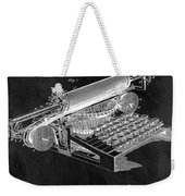 1896 Typewriter Patent Illustration Weekender Tote Bag